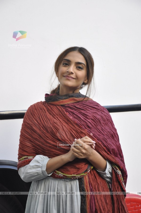 Sonam Kapoor at snapped at Mehboob Studios