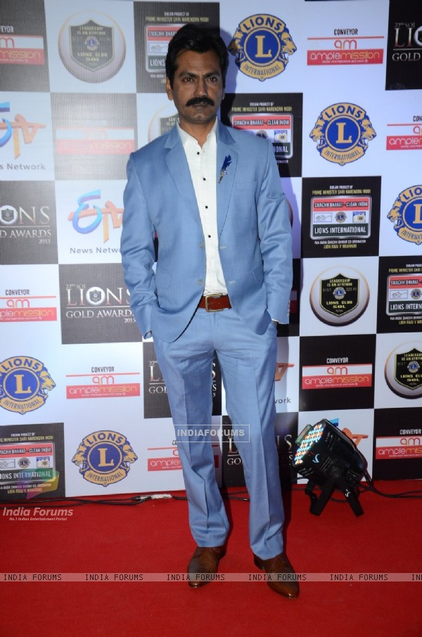 Nawazuddin Siddiqui at Lion Gold Awards