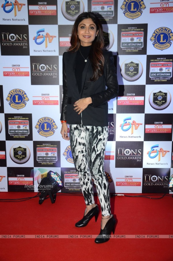 Shilpa Shetty at Lion Gold Awards