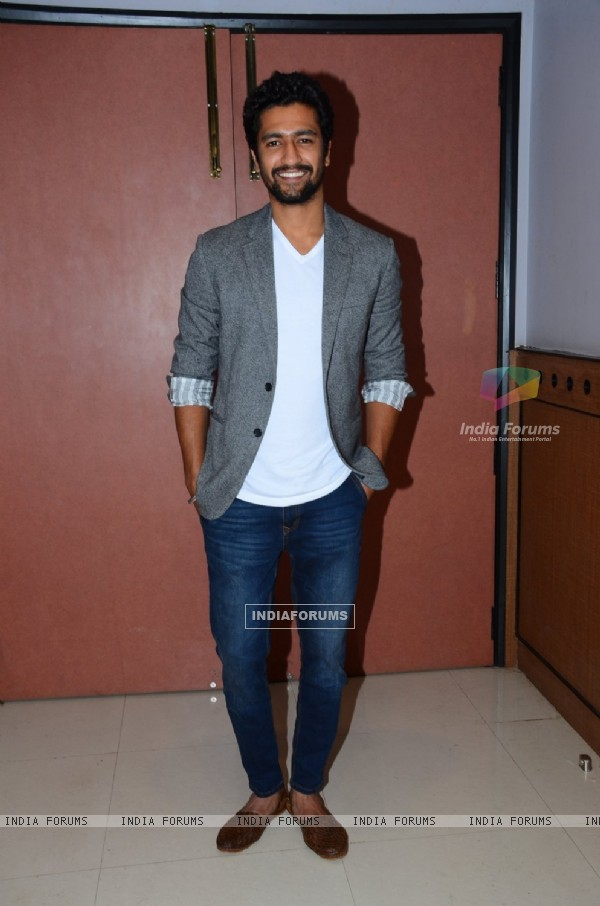 Vicky Kaushal at Promotions of 'Zubaan'