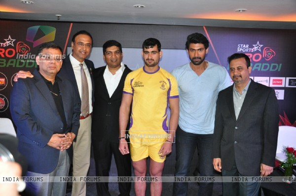 Rana Daggubati art Press Meet of Pro Kabaddi