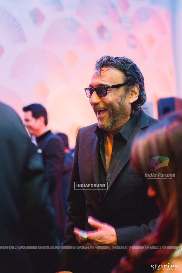 Jackie Shroff attends Asin Thottumkal & Micromax Founder Rahul Sharma's Wedding Reception