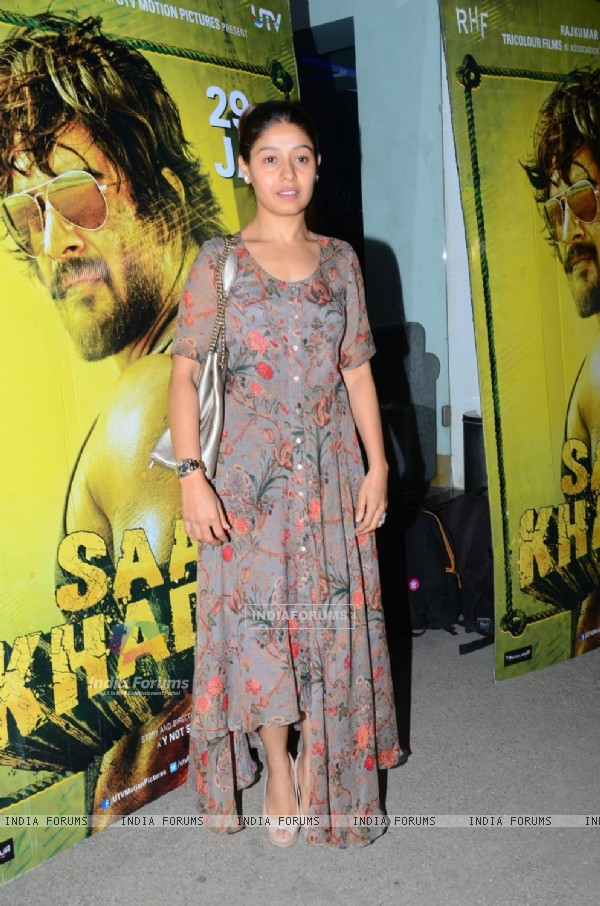 Sunidhi Chauhan at Special Screening of 'Saala Khadoos'