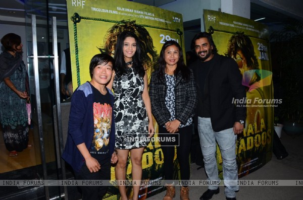 Olympic boxers Sarjubala devi and Sarita devi at Special Screening of 'Saala Khadoos'