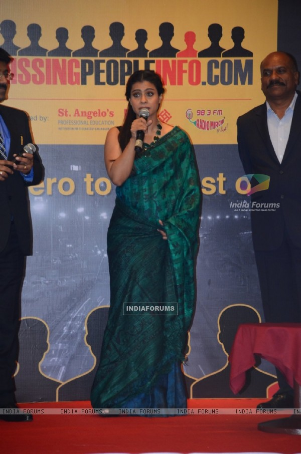 Kajol Launches the 'Missingpeopleinfo.com' website