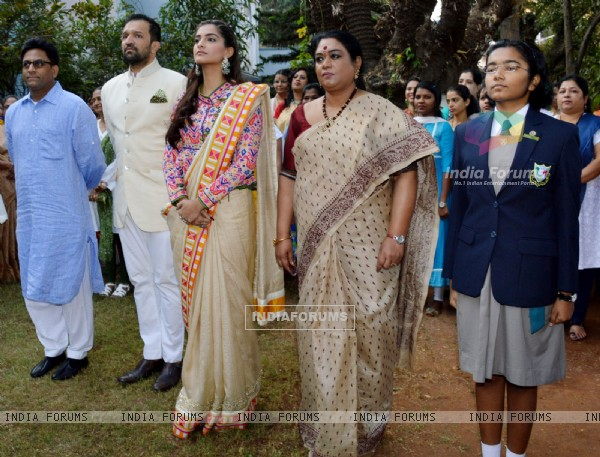 Sonam Kapoor Visits Neerja Bhanot's School on Republic Day