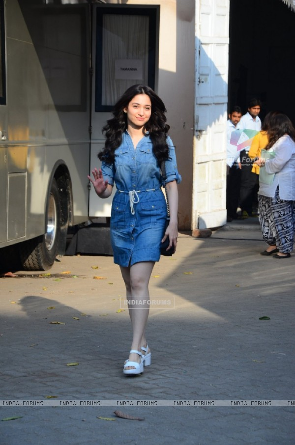 Tamannaah Bhatia Snapped at Mehboob Studio