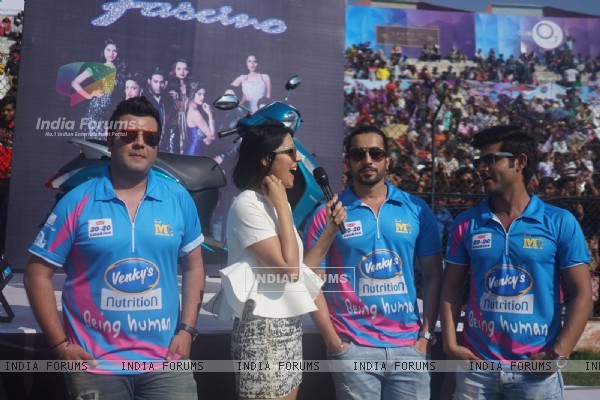 Varun Sharma, Sunny Singh and Omkar Kapoor Snapped at CCL Match