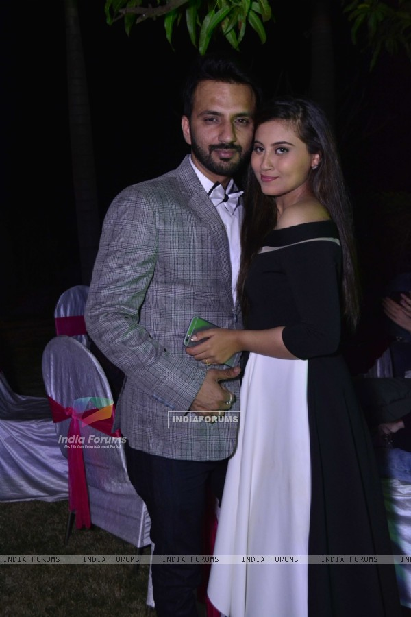 Couple Ali Merchant and Anam at Cocktail Party