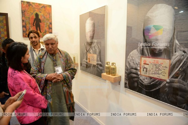 Javed AKhtar at Delhi Art Fair