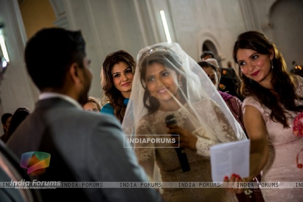 Raveena Tandon's Daughter's Marriage in a Christian Style