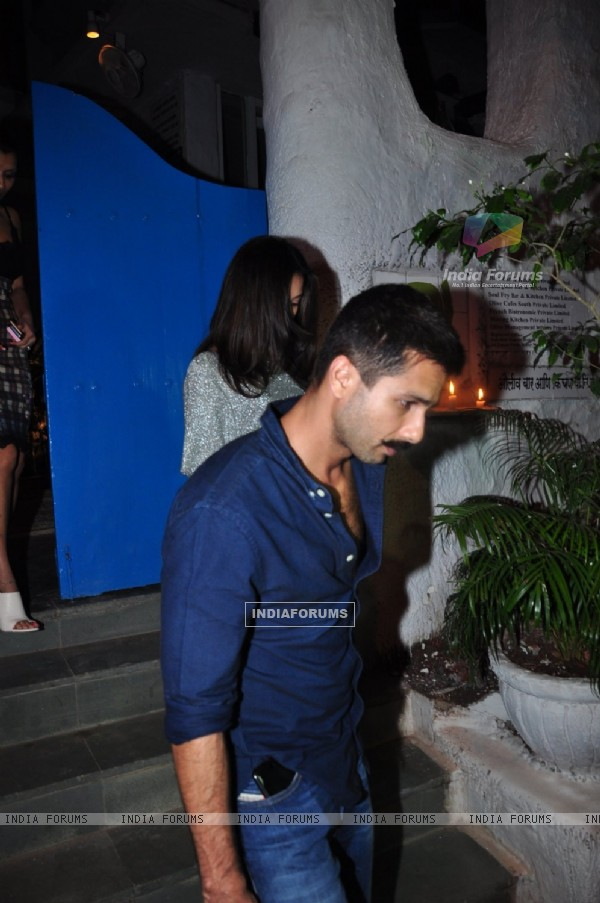 Shahid Kapoor and Mira Rajput Kapoor on a Dinner Date at Olive