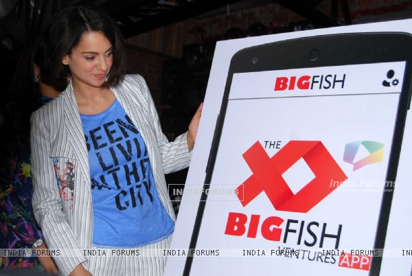 Kangana Ranaut at Launch of 'Big Fish Venture App'