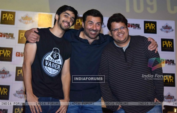 Sunny Deol , Shivam Patil and Rishabh Arora at Promotions of Ghayal Once Again in Delhi