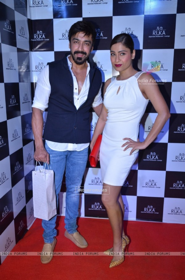 Ashish Chowdhry and Samita Bangargi at Shamita Shetty's Birthday Bash