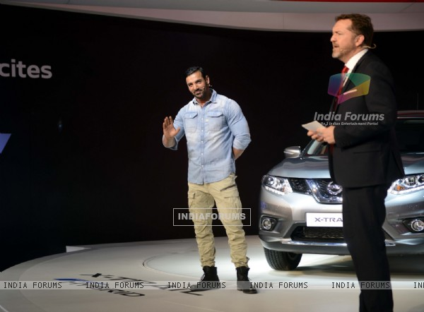John Abraham at Launch of Nissan GTR at Auto Expo