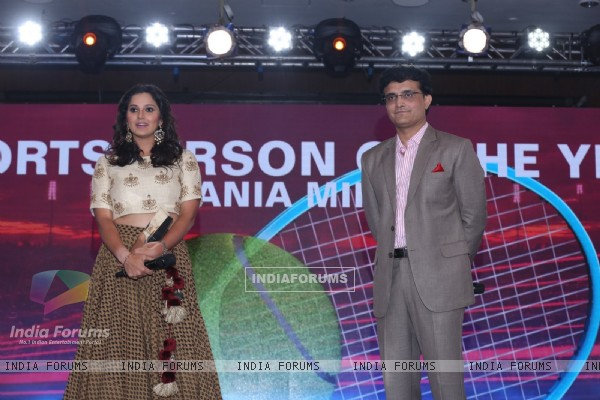 Sourav Ganguly and Sania Mirza at NDTV Indian of the Year Awards