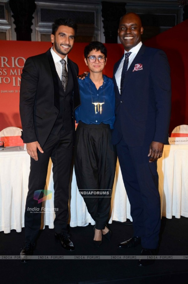 Ranveer Singh and Kiran Rao at Toronto's MOU with Film City