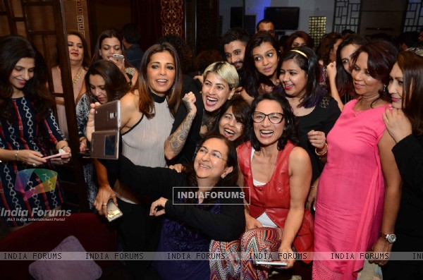 Adhuna Akhtar's Bash with other Hair Stylsists