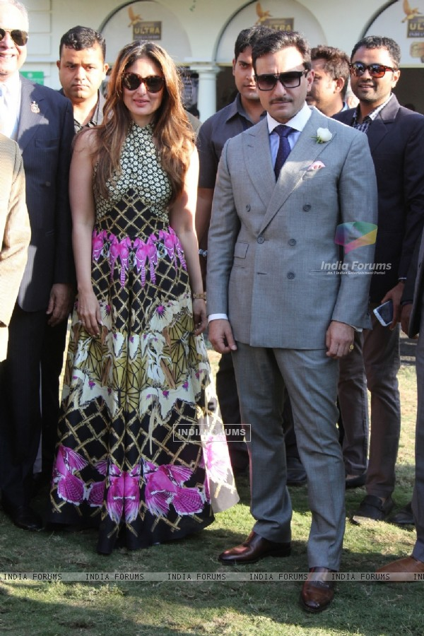 Saif Ali Khan and Kareena Kapoor at Kingfisher Ultra Derby 2016