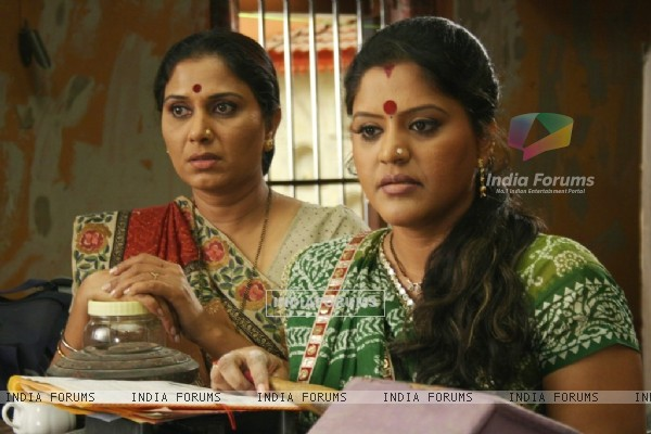 Sarla with Kokila looking tensed