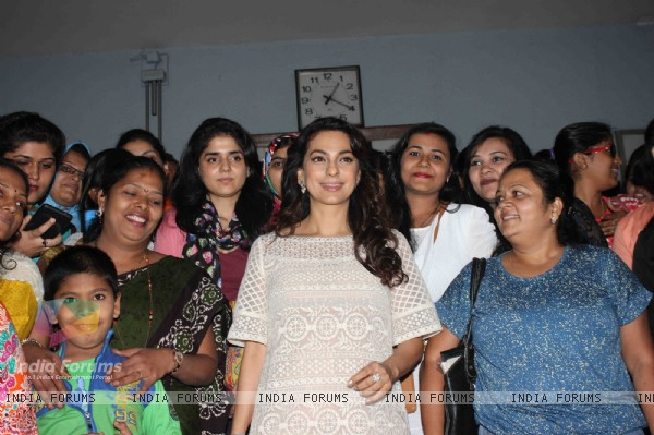 Juhi Chawla at Special Screening of 'Chalk N Duster' for 500 Teachers