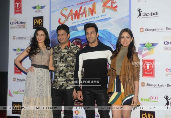 Delhi Promotions of 'Sanam Re': Bhushan Kumar, Divya Khosla, Pulkit Samrat and Yami Gautam