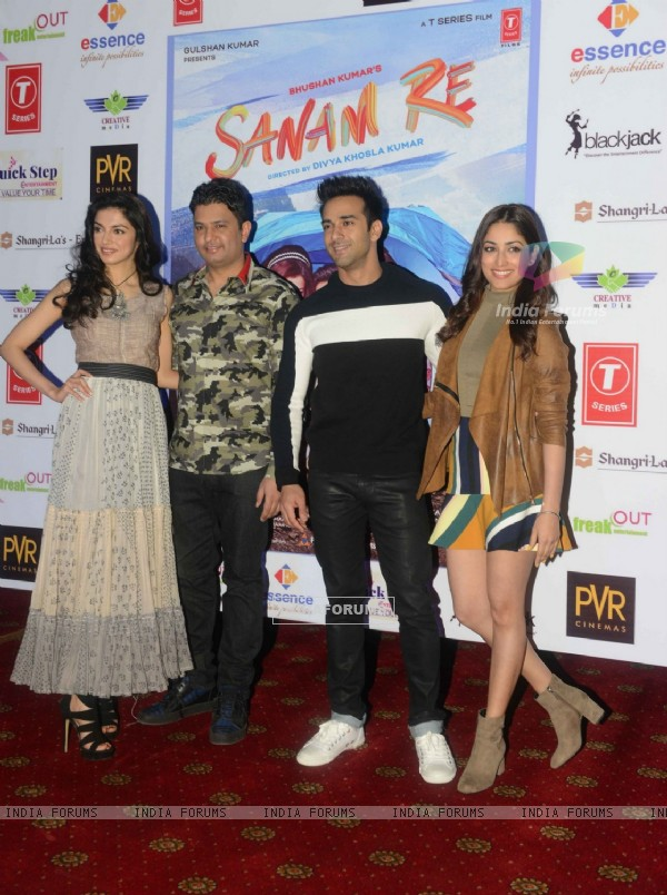Delhi Promotions of 'Sanam Re': Divya Khosla, Bhushan Kumar, Pulkit Samrat and Yami Gautam