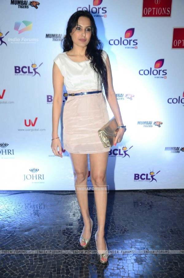 Kamya Punjabi at Launch of Anthem for BCL Team 'Mumbai Tigers'