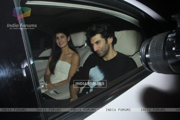 Aditya Roy Kapur and Katrina Kaif attends Special Screening of 'Fitoor'