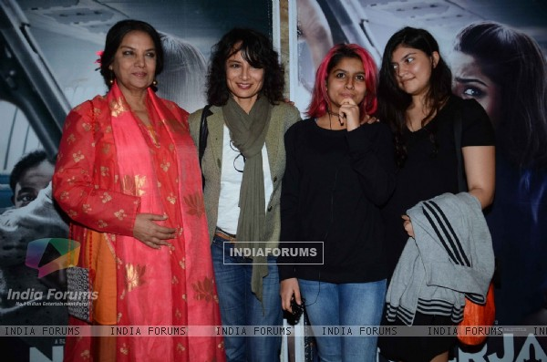 Shabana Azmi and Adhuna Akhtar at Special Screening of Neerja