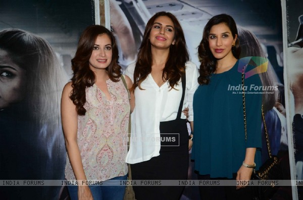 Dia Mirza, Sophie Choudry and Huma Qureshi at Special Screening of Neerja