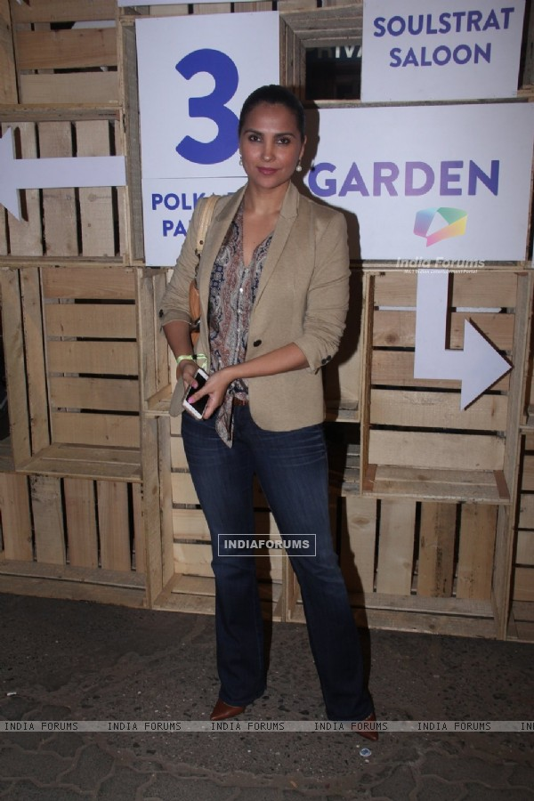Lara Dutta at Mahindra Blues Festival 2016