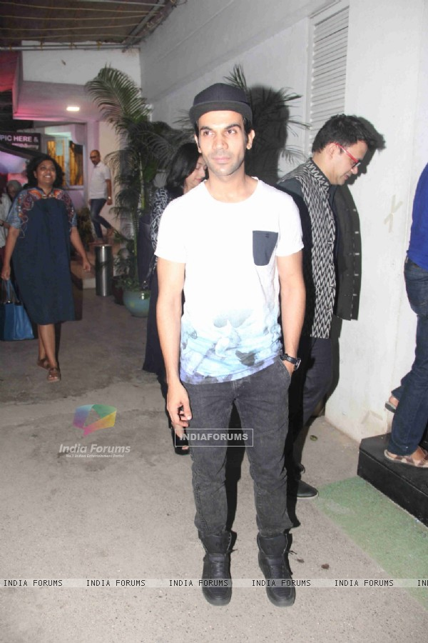 Rajkummar Rao at Special Screening of 'Neerja'