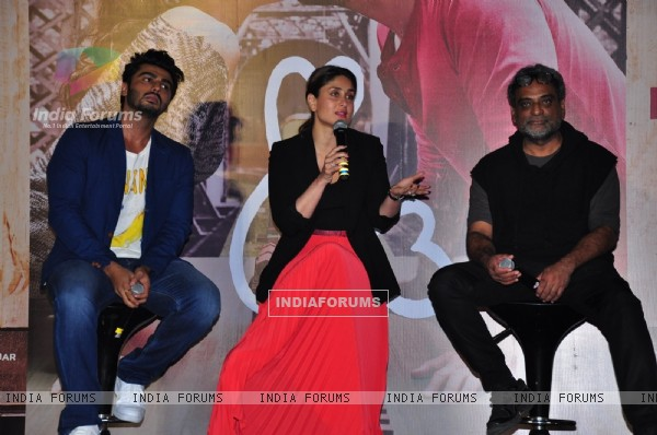 Arjun Kapoor, Kareena Kapoor and R. Balki at Trailer Launch of 'Ki and Ka'
