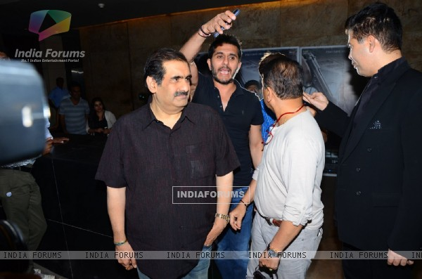 Ritesh Sidhwani and Sunil Gavaskar at Special Screening of 'Neerja'