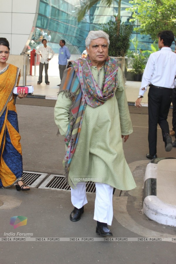 Airport Diaries: Javed Akhtar Snapped
