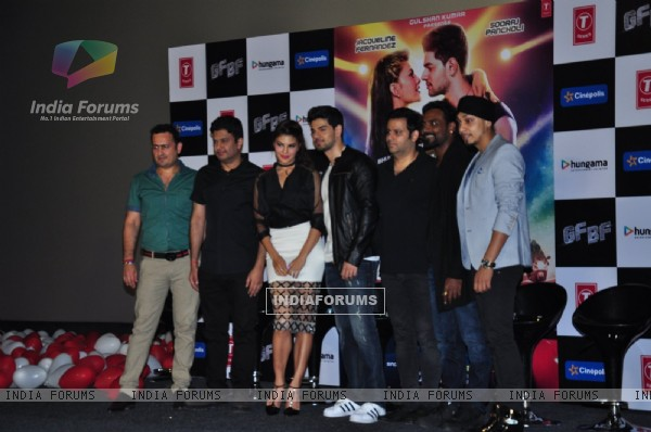Bhushan Kumar, Sooraj Pancholi, Jacquline Fernandes and Remo Dsouza at GF BF Song Launch