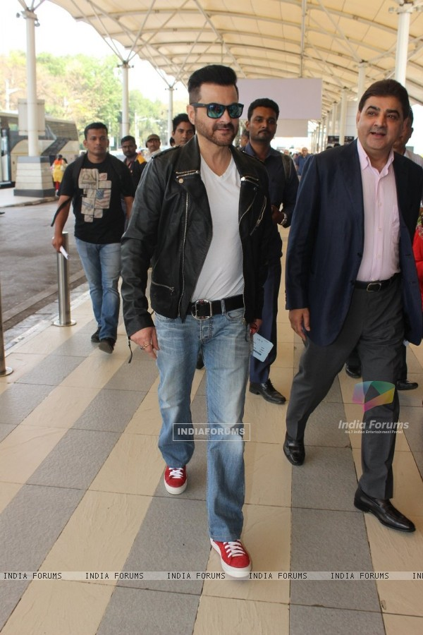 Sanjay Kapoor was spotted at Airport