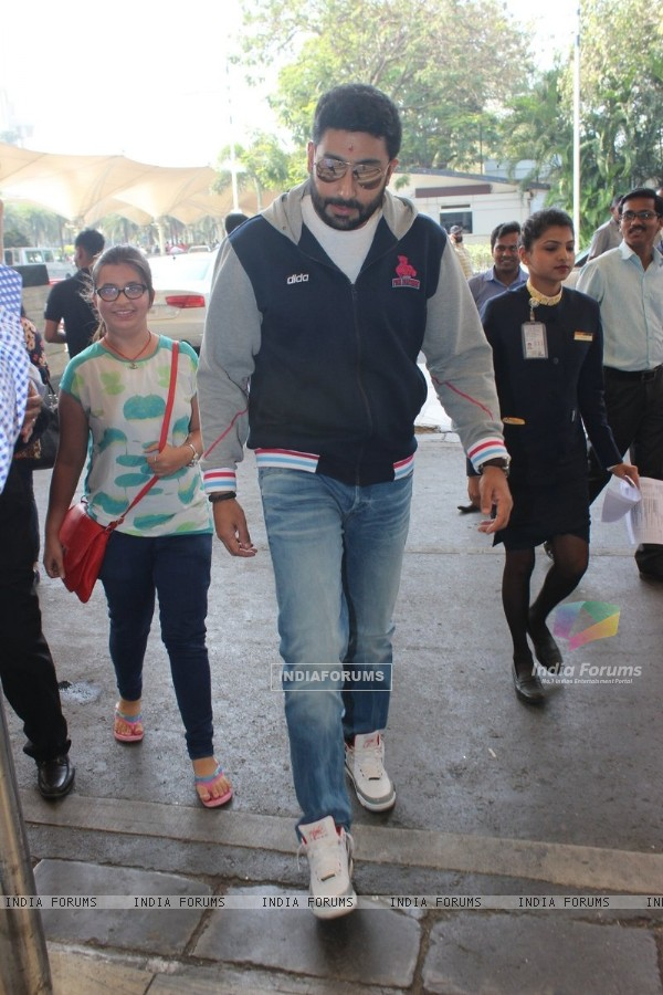 Abhishek Bachchan was snapped at Airport