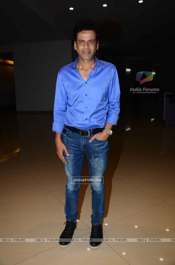 Manoj Bajpayee at Special Screening of 'Aligarh'