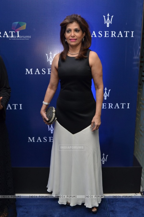 Bina Aziz at Maserati Showroom Launch at Taj Hotel
