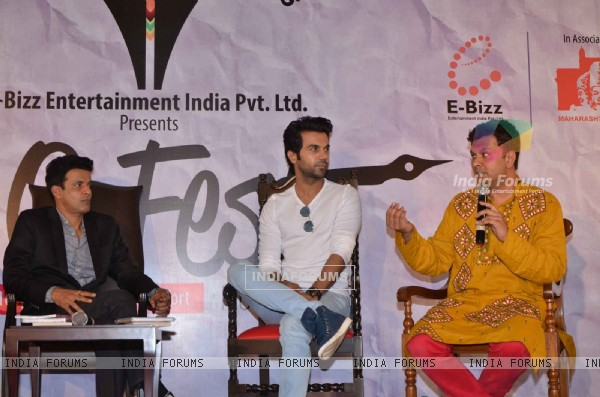 Actor Manoj Bajpayee and Rajkummar Rao at LitoFest