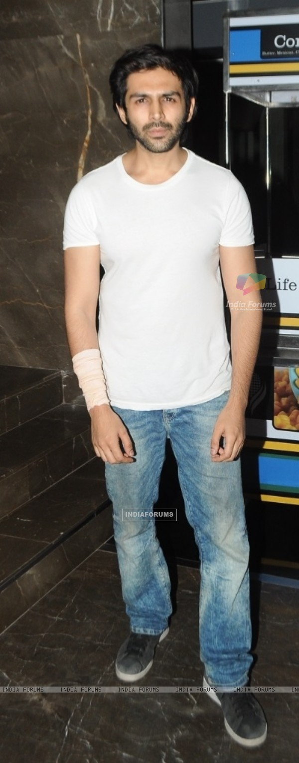 Kartik Aaryan at Special Screening of 'Tere Bin Laden: Dead or Alive'