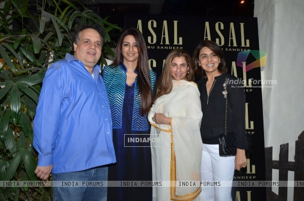 Tabu, Dimple Kapadia, Neetu Singh and Abu Jani at Launch of Abu Sandeep's Store 'ASAL'