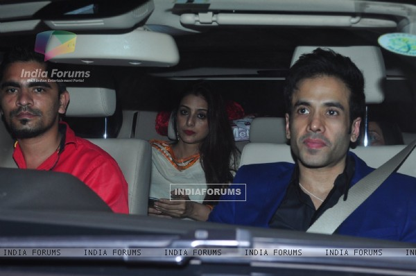 Tusshar Kapoor and Tabu at Dr. Agarwal's Daughter's Wedding
