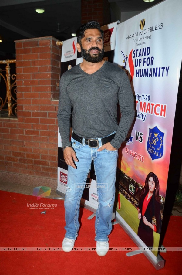 Suniel Shetty at T-20 Cricket Match