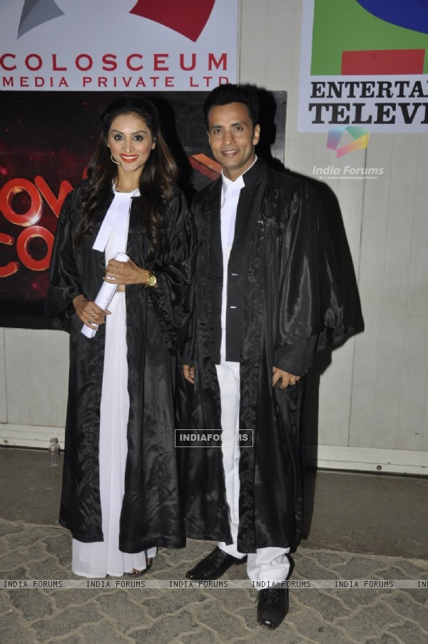 Purbi Joshi and Rajiv Thakur at 'Power Couple' Finale Shoot