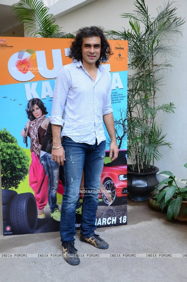 Imtiaz Ali poses for the media at the Launch of Film 'Cute Kamina'
