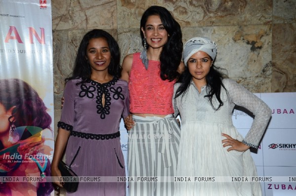 Rajshri Deshpande, Tannishtha Chatterjee and Sarah Jane Dias at Special Screening of 'Zubaan'